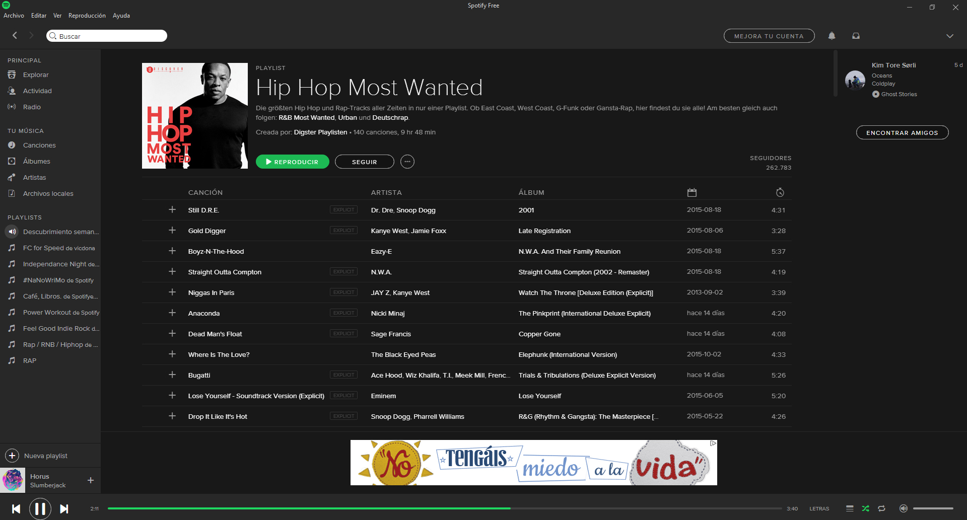 Spotify para Windows 10